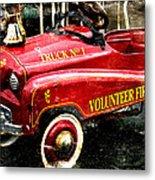 Toy Fire Truck Metal Print by Bobbi Feasel