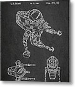 Toy Space Vehicle Patent Metal Print