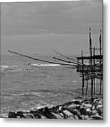 Trabocco On The Coast Of Italy  Metal Print
