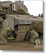 Track Replacement On A Israel Defense Metal Print