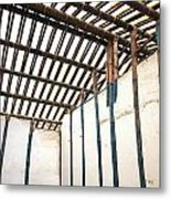 Traditional Chinese Bamboo Structure Metal Print