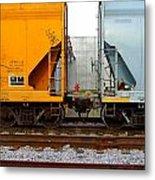 Train Cars 2 Metal Print