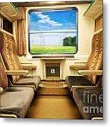 Travel In Comfortable Train. Metal Print
