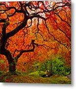 Tree Fire Metal Print