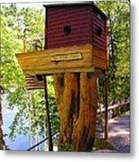 Tree House Boat Metal Print