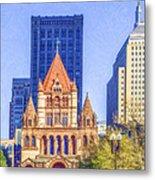 Trinity Church Boston Usa Metal Print