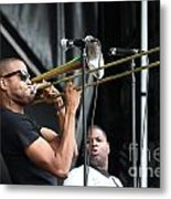 Musician Trombone Shorty Metal Print