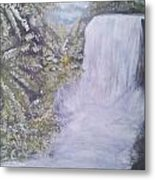 Tropical Waterfall Metal Print