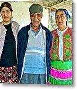 Turkish Family In Demircidere Koyu In Kozak-turkey  Metal Print