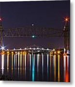 Two Bridges At Night Metal Print