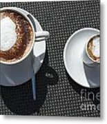 Two Cups Of Coffee Metal Print