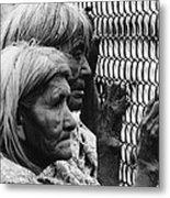 Two Elderly Apache Women Labor Day Rodeo White River Arizona 1969 Metal Print