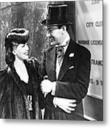 Two Girls On Broadway, From Left Lana Metal Print