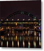 Tyne Bridge At Night Metal Print