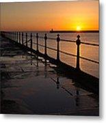Tynemouth Pier Sunrise Metal Print
