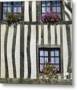 Typical House  Half-timbered In Normandy. France. Europe Metal Print