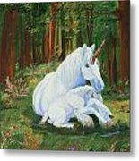Unicorns Lap Metal Print