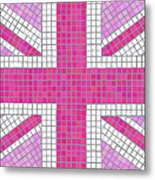Union Jack Pink Metal Print by Jane Rix