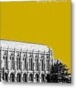 University Of Washington - Suzzallo Library - Gold Metal Print