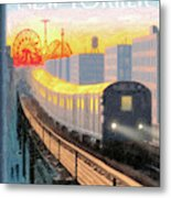 Coney Island Express Metal Print