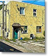 Upstairs Apartment For Rent Metal Print by MJ Olsen