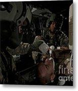 U.s. Army Medics Simulating Ventilation Metal Print