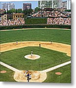 Usa, Illinois, Chicago, Cubs, Baseball Metal Print