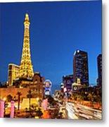 Usa, Nevada, Las Vegas, Paris Las Vegas Metal Print