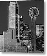 Usa, Texas, Dallas, Panoramic View Metal Print