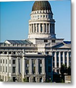 Utah State Capitol Building, Salt Lake Metal Print