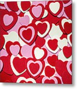 Valentines Day Hearts Metal Print by Elena Elisseeva