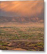 Valley Sunset Metal Print