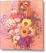 Vase Of Flowers  Metal Print