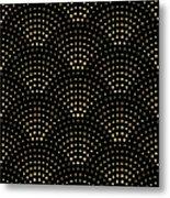 Vector Abstract Seamless Wavy Pattern Metal Print
