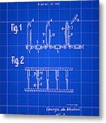 Velcro Patent 1952 - Blue Metal Print