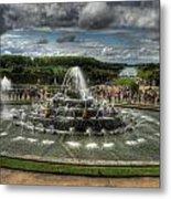 Versailles Fountain Metal Print