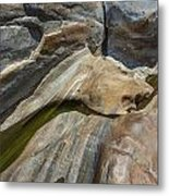 Verzasca River - Rocks  Metal Print