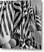 Veteran's Day Parade University Of Arizona Tucson Black And White Metal Print