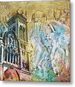 Vezelay Church And Hill Metal Print
