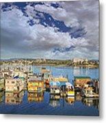 Victoria Bc Fishermans Wharf Metal Print