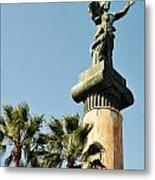Victory Statue In Puerto Banus Metal Print