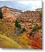 View Along East Side Of Zion-mount Carmel Highway In Zion National Park-utah   Metal Print