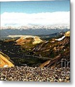 View From The Top Metal Print by Claudette Bujold-Poirier