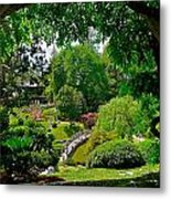 View Of A Japanese Garden Metal Print