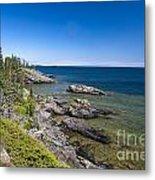 View Of Rock Harbor And Lake Superior Isle Royale National Park Metal Print