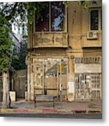 View Of Shops On The Street, Allenby Metal Print