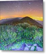 View Of The Appalachians From Craggy Pinnacle Near The Blue Ridg Metal Print