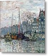 View Of The Prins Hendrikkade And The Kromme Waal In Amsterdam Metal Print