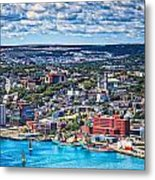 View Of The St. John's Newfoundland From Signal Hill Metal Print