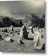 Viking Burial Ground, Lindholm Hoje Metal Print